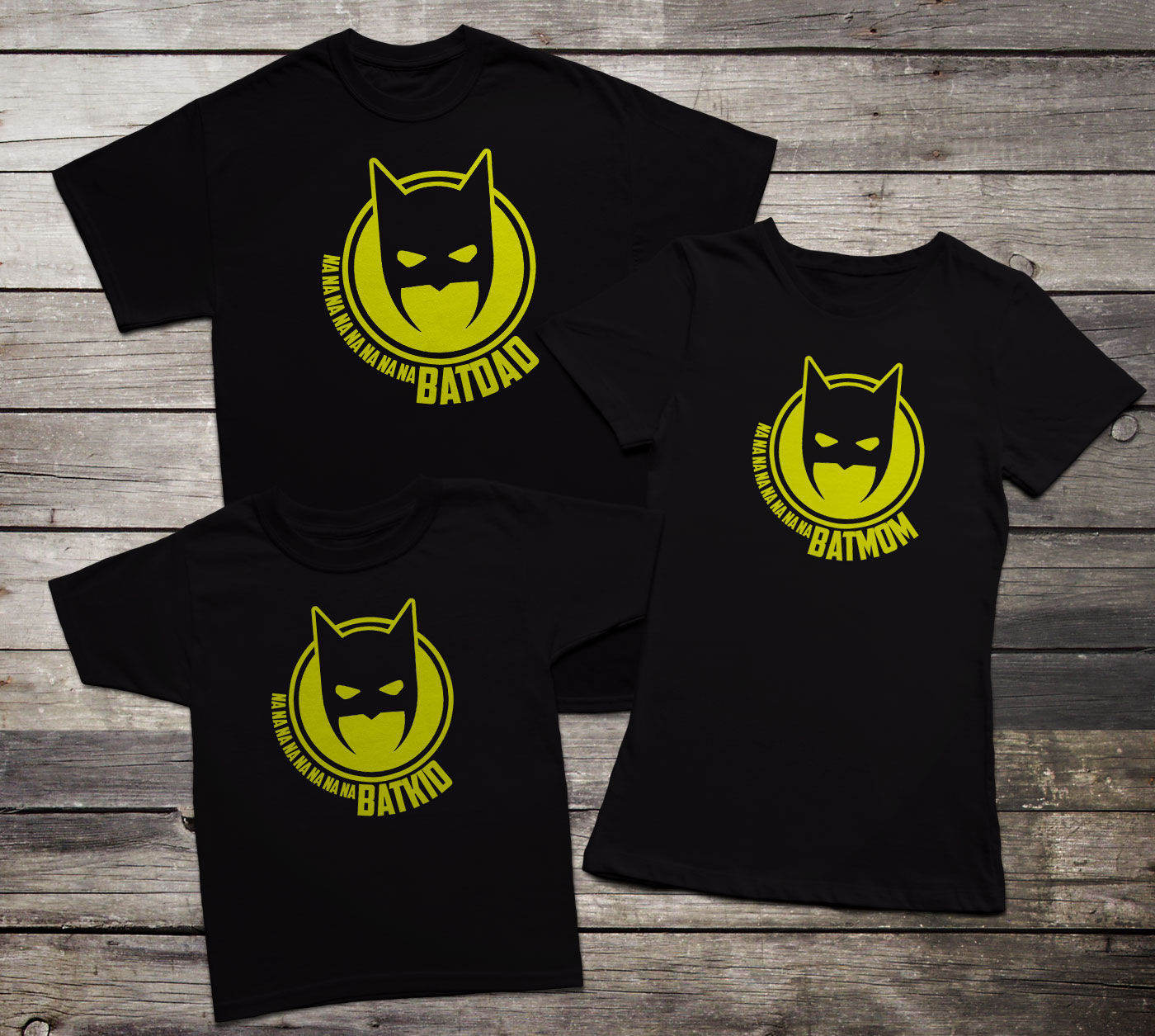 Batfamily family t shirt set inspired by batman for Riddler t shirt with bats